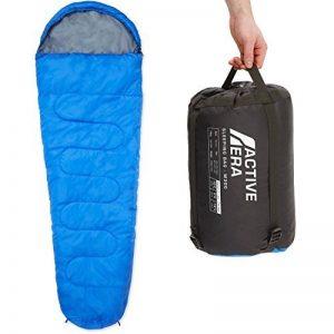 300GSM Sac de couchage momie pour camping, randonnée et en extérieur professionnel. 3-4 saison. capuche avec cordon de serrage et collier de la marque Active-Era image 0 produit