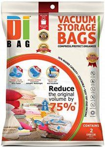 Housses de rangement sous vide - 2 sacs 100x80x32 cm de voyages pour économiser de l'espace - Sac de compression aspirable pour ranger et emballer vêtements, couettes, lit et valise - DIBAG de la marque DIBAG image 0 produit
