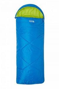 Mountain Warehouse Mini sac de couchage Summit carré - Sac de couchage enfants léger, poche intérieure en forme d'enveloppe, sac de couchage à fermeture double sens, capuche - Pour les voyages de la marque Mountain Warehouse image 0 produit