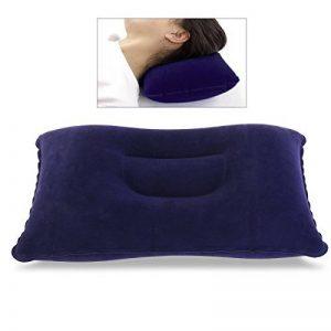 NUOLUX Oreiller gonflable flocage Super épais tissu oreiller de voyage Portable pour activités de plein air (bleu foncé) de la marque NUOLUX image 0 produit