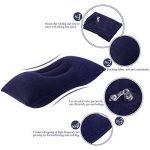 NUOLUX Oreiller gonflable flocage Super épais tissu oreiller de voyage Portable pour activités de plein air (bleu foncé) de la marque NUOLUX image 1 produit