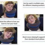 Oreiller de voyage BCOZZY avec support pour le menton – soutient la tête, le cou et le menton pour un maximum de confort en position assise. Produit breveté. (MARINE, TAILLE ADULTE) de la marque BCOZZY image 2 produit