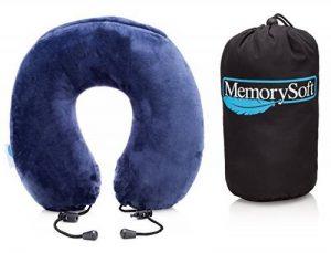 Oreiller de Voyage Par MemorySoft - Moelleux et Confortable Coussin de Voyage (Petit Modèle) de la marque MemorySoft image 0 produit