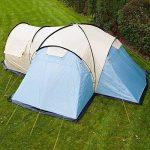 SKANDIKA 8 Toronto 8-Tente Familiale d&OcircMe-8 590x590 cm Mixte, Bleu/Beige, 8 Persons de la marque SKANDIKA image 2 produit